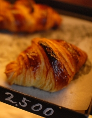 croissant for tasting at Les Hiboux holiday gites with swimming pool