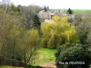 Crezieres view from our holiday rental accommodation, Poitou Charentes France