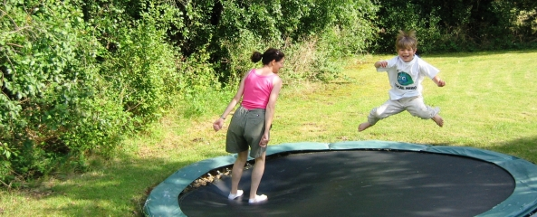 trampoline at the self catering cottage, Poitou Charentes, France