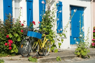Bicycles at L\'Ile d\'Aix near the holiday gites cottages at les Hiboux, france